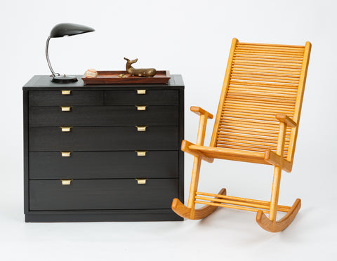 Single Ebonized Chest of Drawers from Edward Wormley's Precedent Collection for Drexel