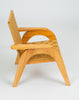 Bauhaus-Style Maple Lounge Chair with Nylon Webbed Seat