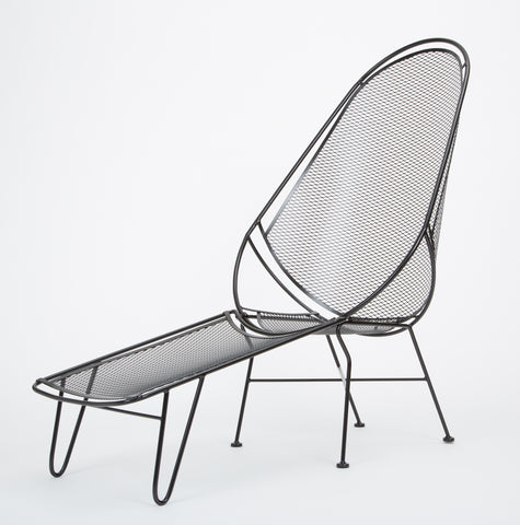 Scoop Lounge Chair with Ottoman by Maurizio Tempestini for Salterini
