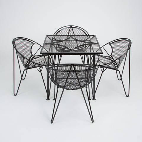 "Four-Seat ""Radar"" Patio Dining Set by Maurizio Tempestini for Salterini"