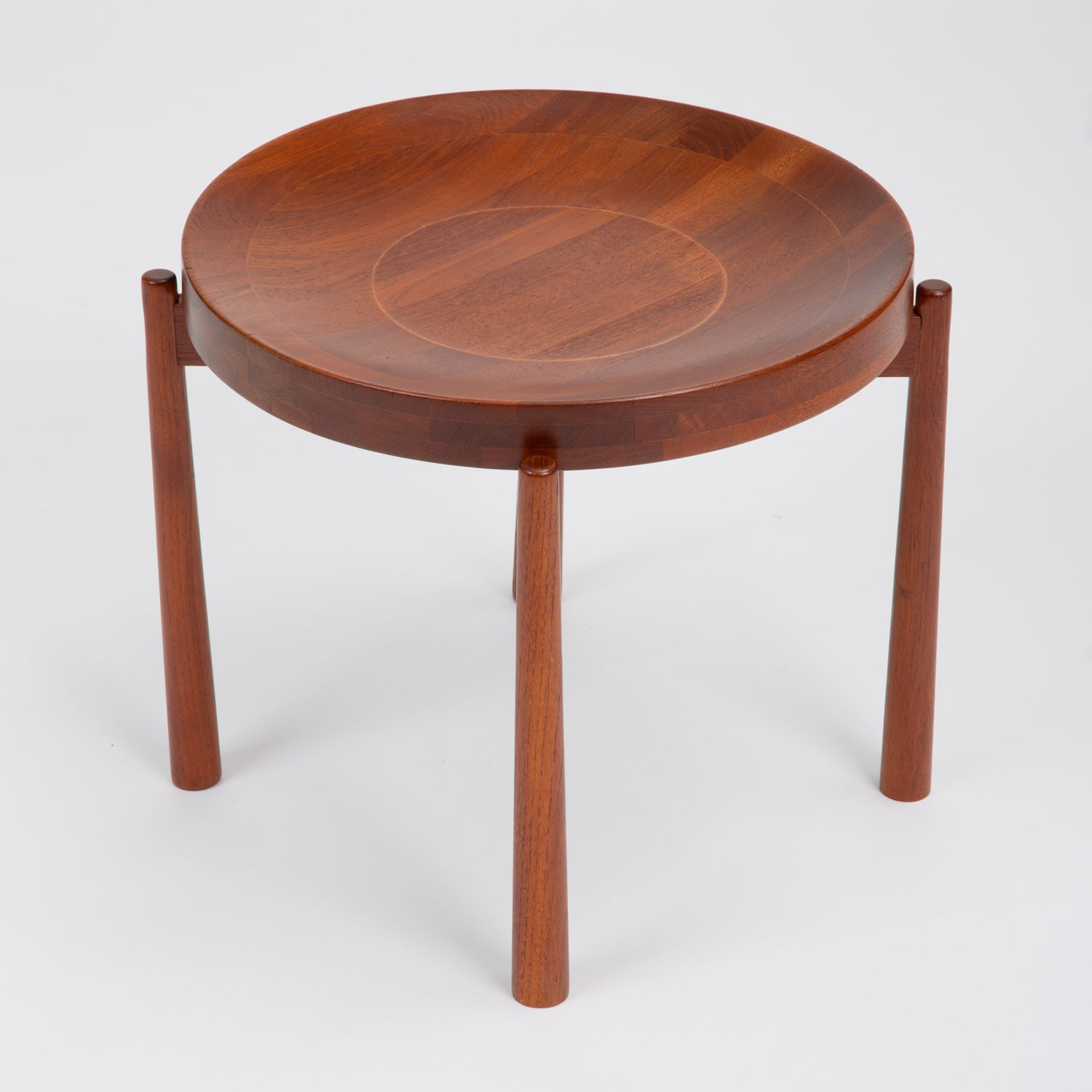 Solid Teak Side Table with Reversible Tray by DUX