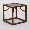 Small Cube Table in Solid Rosewood and Etched Brass
