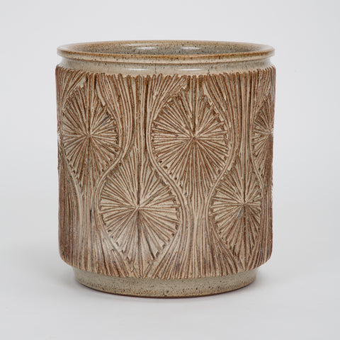 "Incised ""Teardrop Sunburst"" Planter by Robert Maxwell and David Cressey for Earthgender"