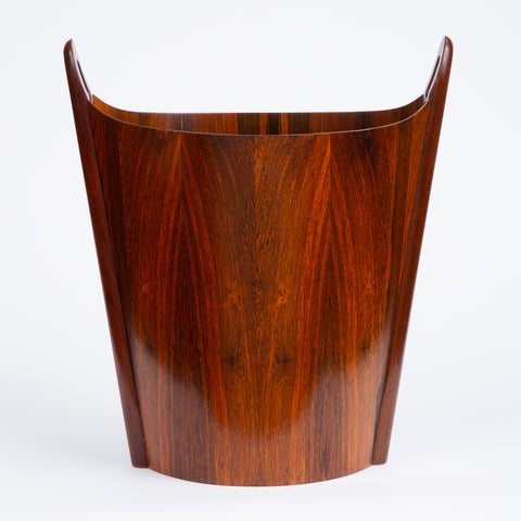 Norwegian Rosewood Wastebasket by Einar Barnes for P.S. Heggen