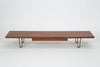 "Walnut ""Long John"" Bench or Coffee Table by Edward Wormley for Dunbar"