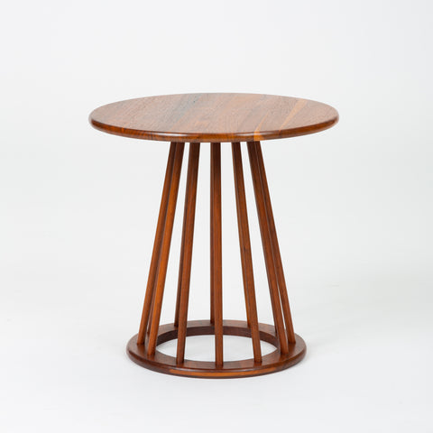 Round Walnut Side Table by Arthur Umanoff for Washington Woodcraft