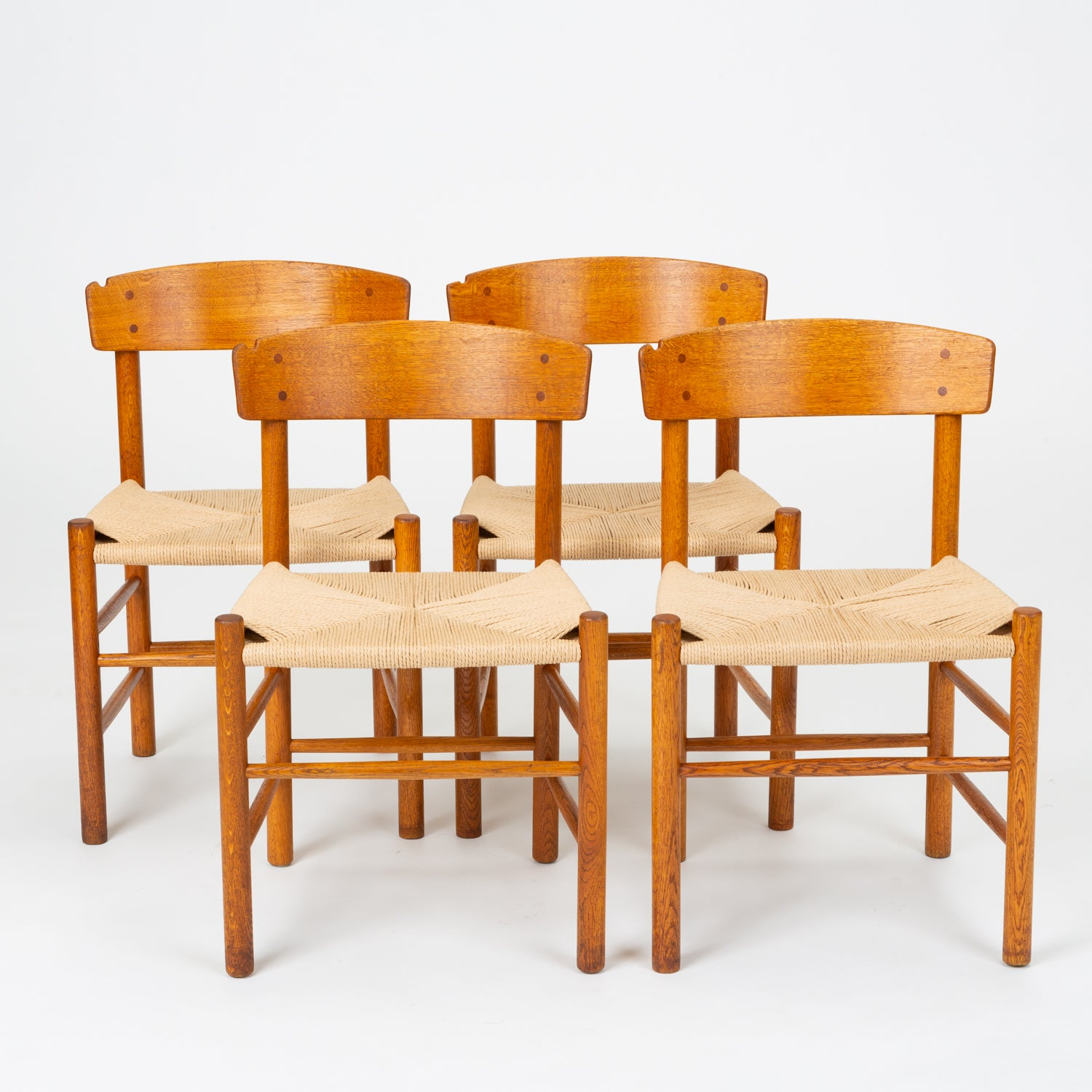 Phenomenal Set Of Four J39 Oak Dining Chairs By Borge Mogensen For Fdb Mobler Gmtry Best Dining Table And Chair Ideas Images Gmtryco