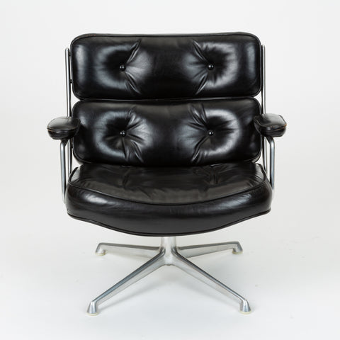 Ray + Charles Eames Time Life Lobby Chair in Black Leather