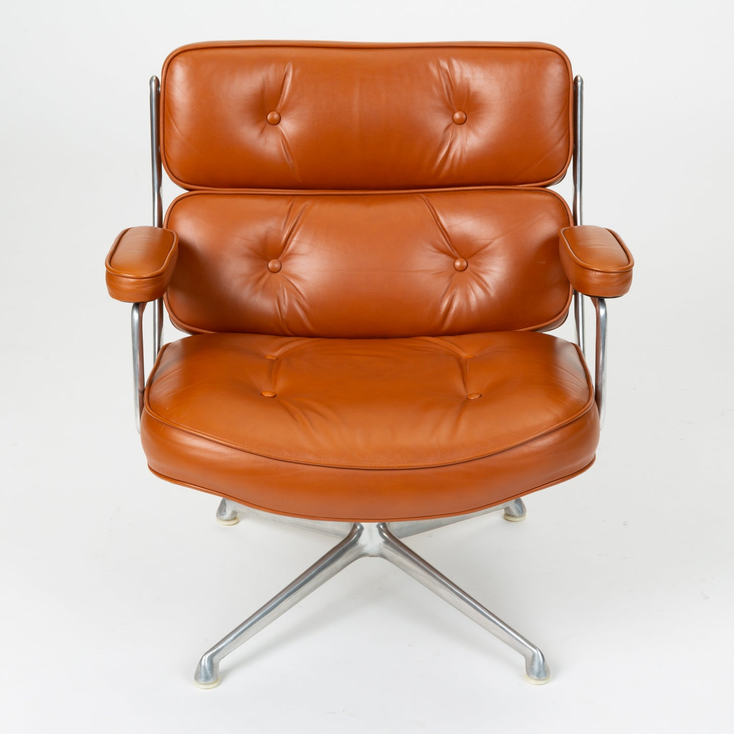 Ray + Charles Eames Time Life Lobby Chair in Cognac Leather