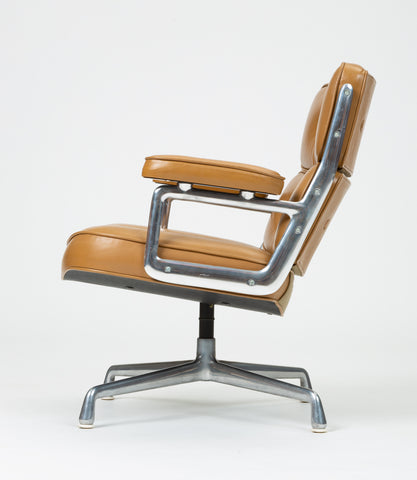 Ray + Charles Eames Time Life Lobby Chair in Camel Leather