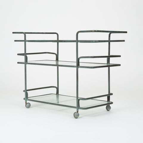 Richard Frenier Bronze Bar Cart for Brown Jordan
