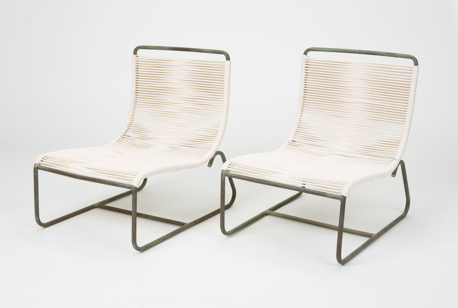 Pair of Walter Lamb Sleigh Chairs