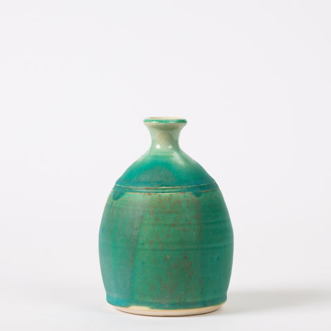 Modern Blue-Glazed Studio Pottery Vase