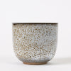 Thick-walled Studio Pottery Cup with Oil Spot Glaze