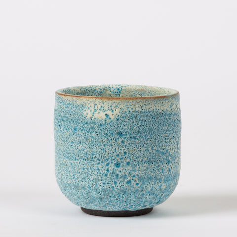 Tea Cup with Blue Volcano Glaze signed 2-71