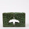 Stone Bookends in Pre Columbian Style by Michael Zarebski for Industrias Creativas