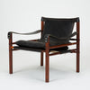 Pair of Rosewood and Leather Safari Chairs by Arne Norell