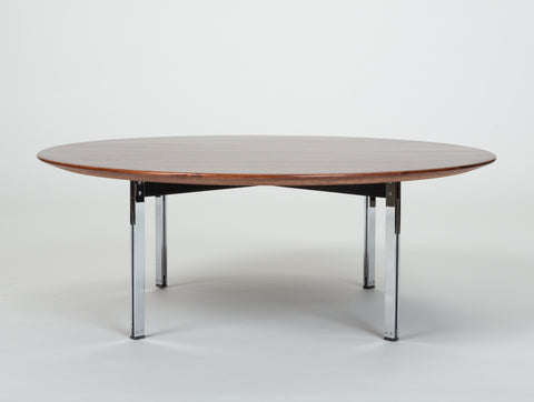 Rosewood Parallel Bar Coffee Table by Florence Knoll