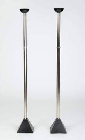 Pair of Torchiere Floor Lamps by Ron Rezek