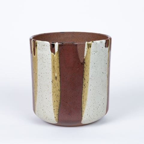 Malcom Leland / David Cressey Flame Glaze Planter for Architectural Pottery - Burgundy