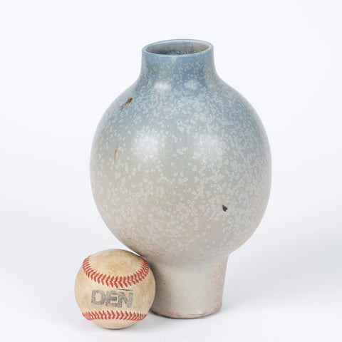 Studio Pottery Vase with Light Ombre Glaze