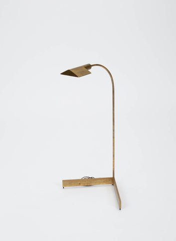 Early Brass Floor Lamp by Cedric Hartman