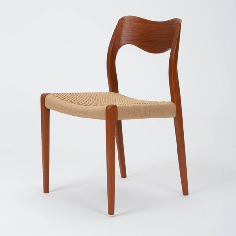 Set of Eight Niels Møller No. 71 Teak Dining Chairs