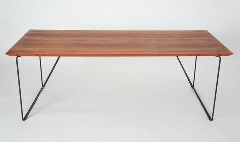 Luther Conover Table with Custom Painted Walnut Top