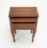 Three Danish Modern Nesting Tables in Rosewood