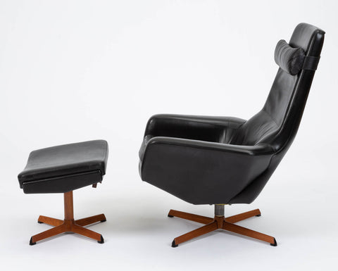 Leather Lounge Chair and Ottoman by Ib Madsen & Acton Schübell for Madsen & Schübell