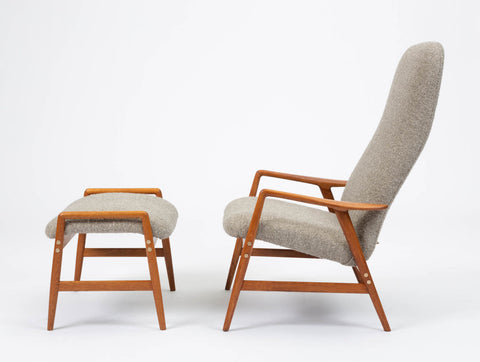 Lounge Chair and Ottoman by Alf Svensson for DUX