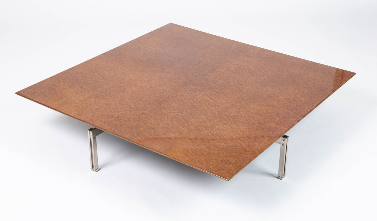 """Onda"" Square Coffee Table by Giovanni Offredi for Saporiti Italia"