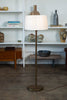 Walter Von Nessen Bronze Swing Arm Floor Lamp