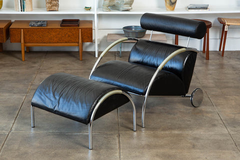 Zyklus Chair and Ottoman by Peter Maly