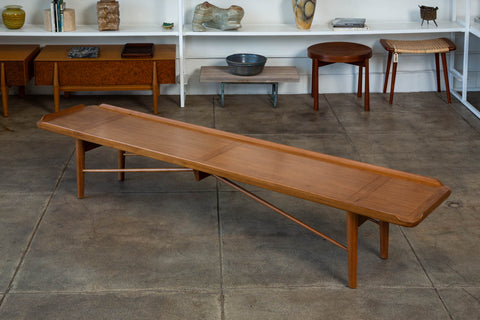 Finn Juhl Long Walnut Bench