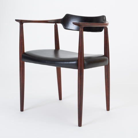 Rosewood and Leather Armchair by Bent Andersen for Christensen & Larsen