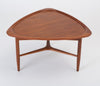 "Scandinavian Modern Teak ""Guitar Pick"" Side Table"