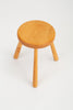 French Rustic Modern Three-legged Stool in Pine Wood