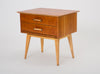 Pair of Cherry Wood Nightstands by Renzo Rutili for Johnson Furniture