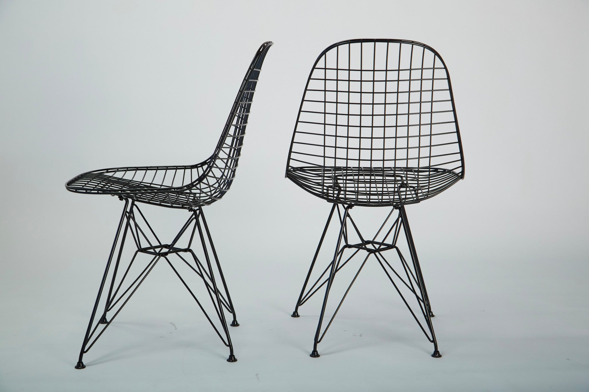 Pair of Eames Wire Chairs DKR 0 with Eiffel Tower Base – Den M¸bler