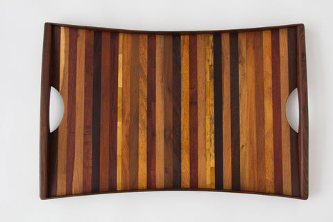 Large Rosewood Tray with Handles by Don Shoemaker for Señal
