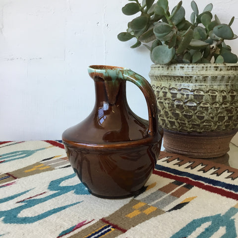 Brown Ceramic Studio Pottery Pitcher