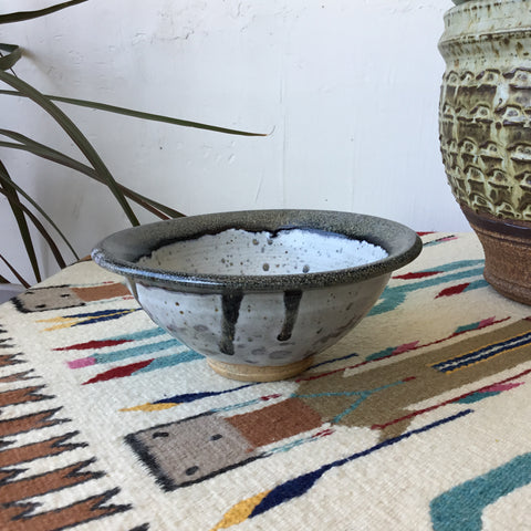 Grey Ceramic Studio Pottery Speckled Bowl