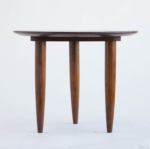 American Made Solid Walnut Round Side Table by Prelude
