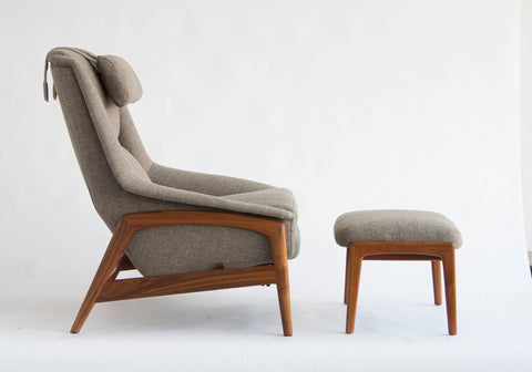 Folke Ohlsson Lounge Chair and Ottoman for Dux