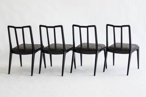 Set of Ebonized John Stuart Dining Chairs