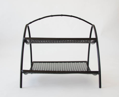 Two-Tier Mid-Century Magazine Rack