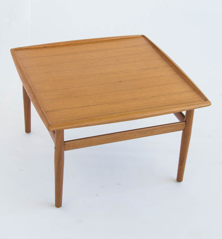 Danish Modern Teak Square Side/Coffee Table by Grete Jalk