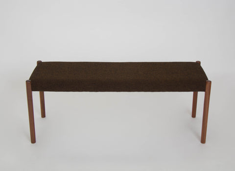 Niels Møller 63A Bench with Walnut Legs