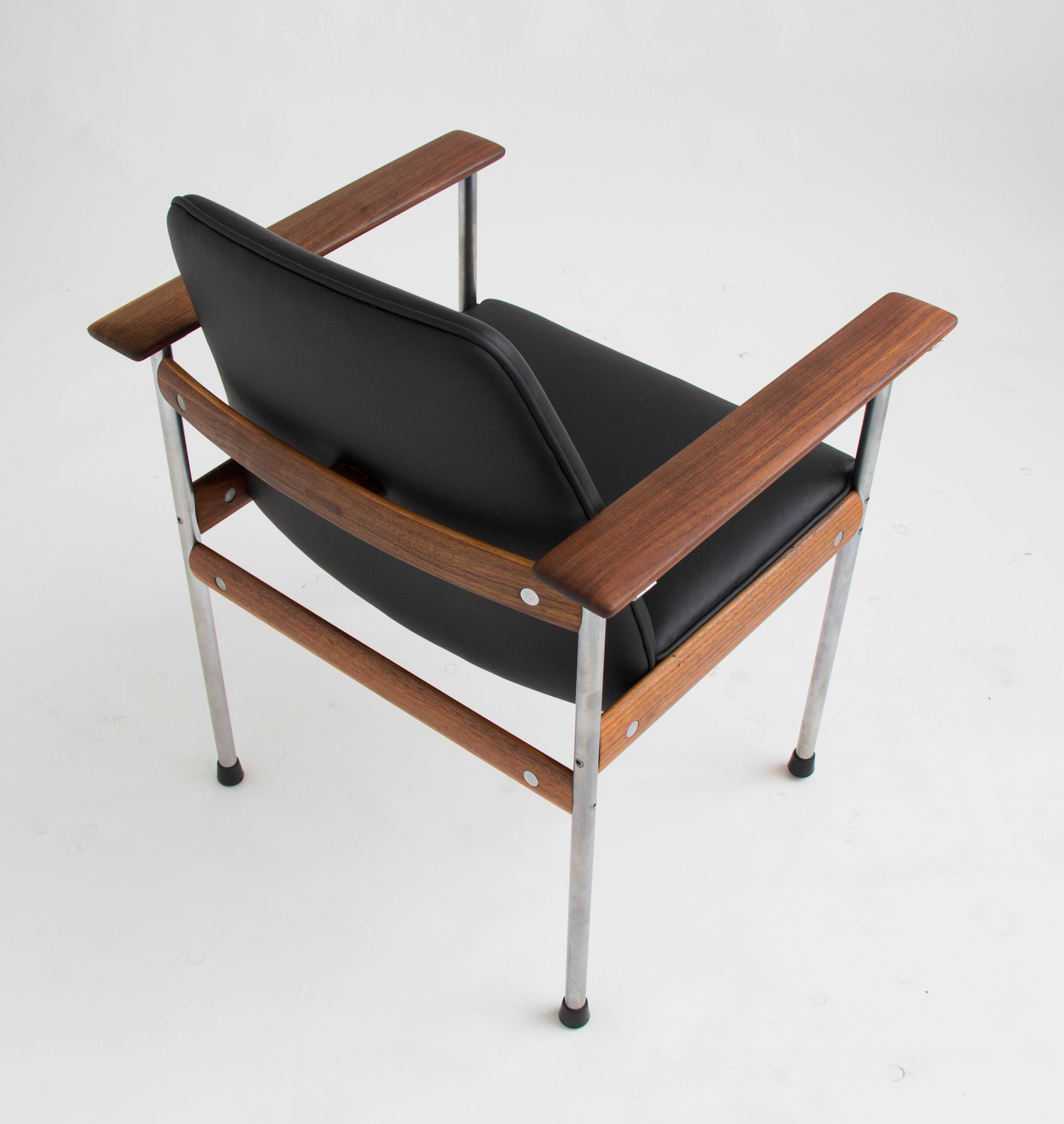 Set of Six Teak and Leather Dining Chairs by Sven Ivar Dysthe
